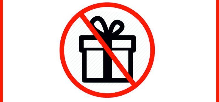 Нет подаркам! Нет коррупции!